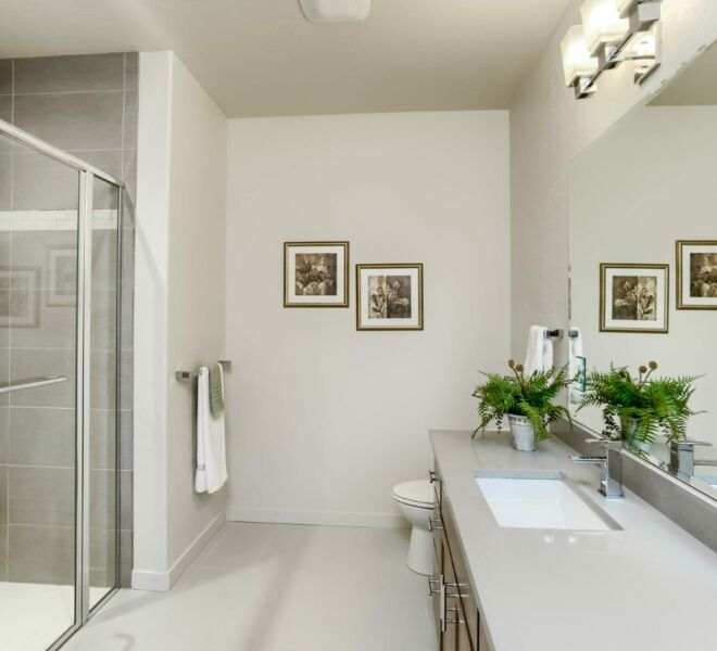 bathroom of a home at Meadowbrook Park Condos in Ashland oregon