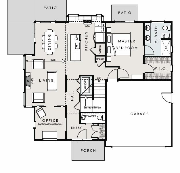 Verde village type 3 floor plan downstairs