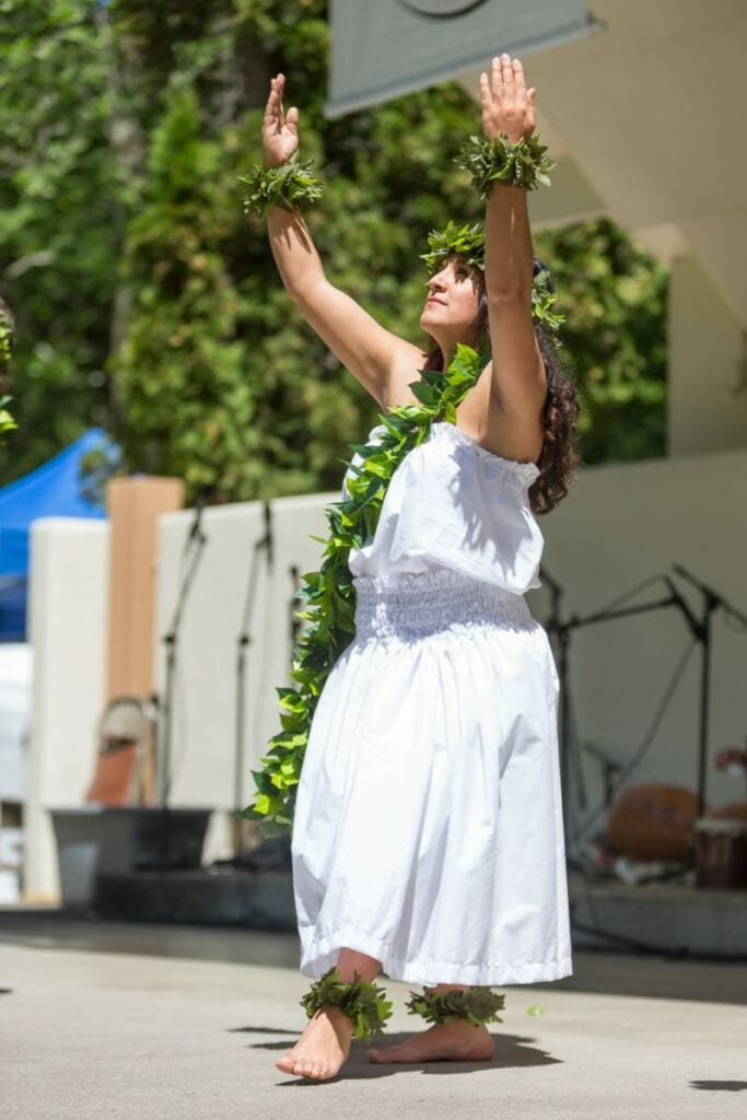 Hula Dancing at the Ashland World Music Festival