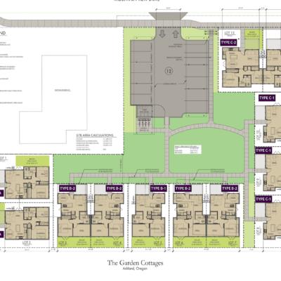Garden Cottages Site Plan