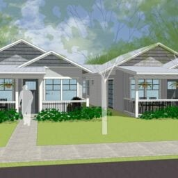 Street View Rendering of The Garden Cottages Community In Ashland, Oregon