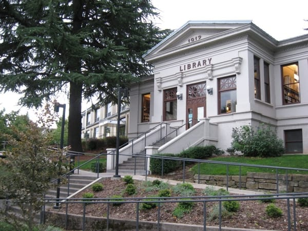 Walk past the Ashland Oregon Library