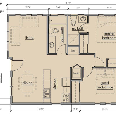 Kestrel Park Cottages Type A Floor Plan