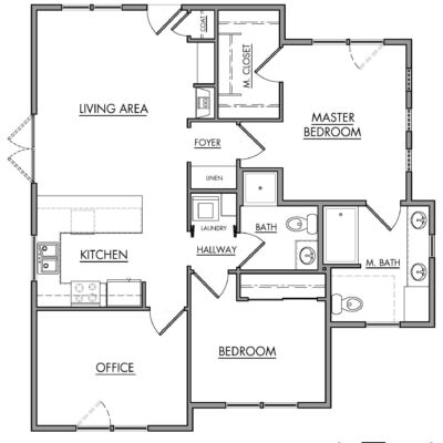 Kestrel Park Cottages Type C Floor Plan