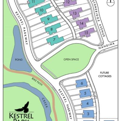 Kestrel Park Site Plan Key