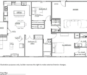 Kestrel Park Floor Plan - Lot 4