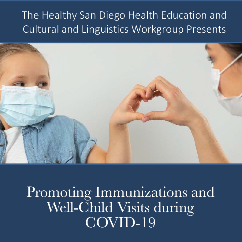 Promoting Immunizations and Well‐Child Visits during COVID‐19 Workshop - July 23, 2020