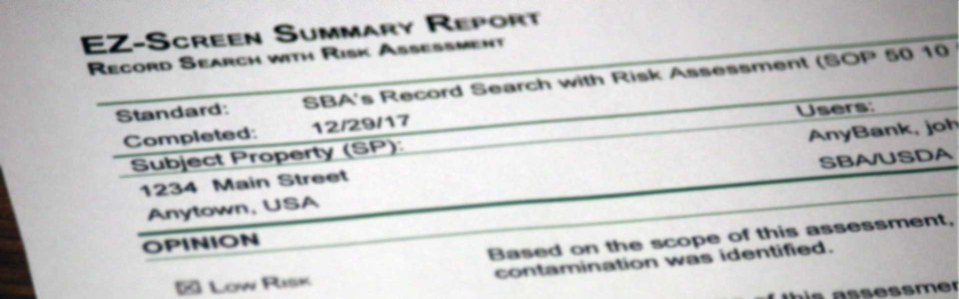 Records Search with Risk Assessment