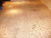 Tile and Grout Before Cleaning With Rotovac 360