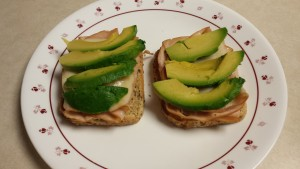 open face avocado turkey