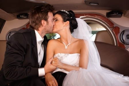 new york limosuines wedding limo service picture of people getting married in a limo