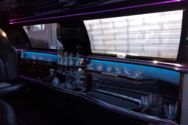 inside the luis limo for nyc limo service