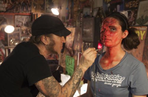 Make-up artist Shane Morton and Allison Maier - Frankenstein Created Bikers