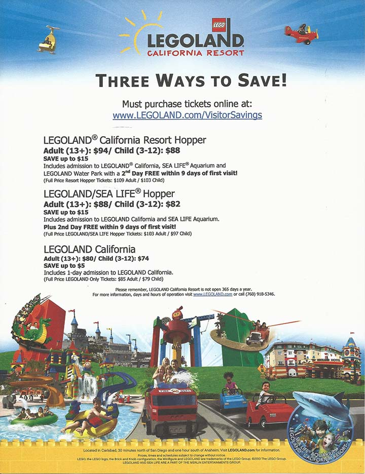 LEGOLAND Discount Ticket Flyer with Link