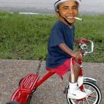Obama and training wheels
