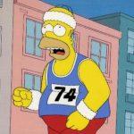 runner - Homer Simpson