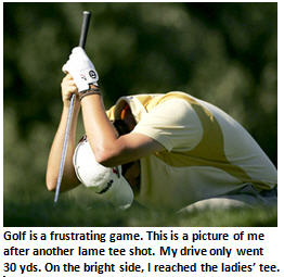 Is your self-esteem a little too positive? Why not try golf?