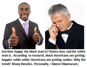 happiness - black man - white man