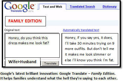 The latest innovation from Google: Google Translate – Family Edition