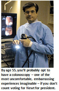 Getting a colonoscopy is better than sex…