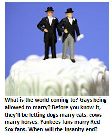 Maybe the Mayans were right. Religious scholars say gay marriage a sign end is near.