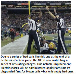 NFL addresses fan discontent by hiring new replacement referees from Foot Locker