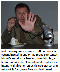 Jones banned substance - cake