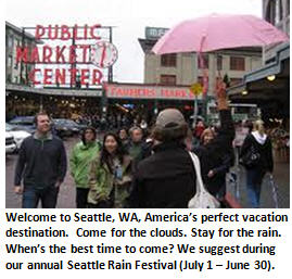 Seattle rain - pike place market