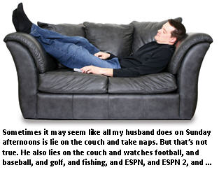 wedding vows - rebuttal - man on couch
