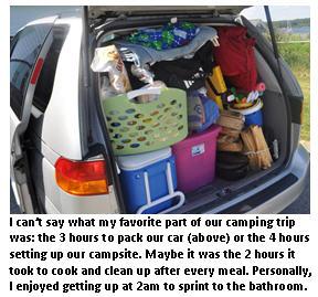 Camping - minivan