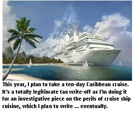 tax deduction - cruise ship