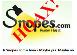 Myth-busting website Snopes.com revealed to be a hoax – according to Snopes.com