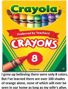 50 shades of white - crayons