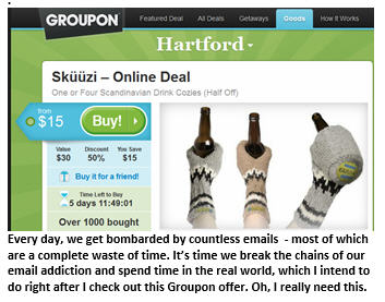 Email addiction - Groupon