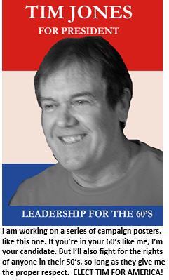 Tim for President - 60s poster