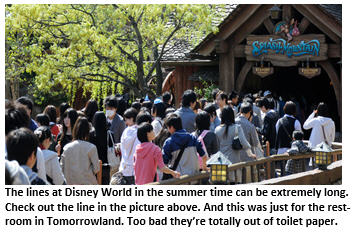 disney world - long line