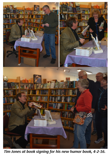 Book signing - Snow Goose Books with caption