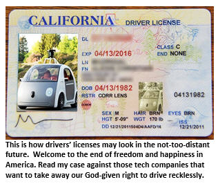 self-driving car - drivers license