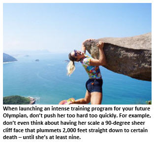 2028 Olympics - girl on cliff