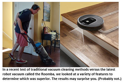 Side-By-Side Comparison of the Roomba vs. the Timba