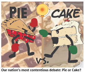 America's Great Debate: Pie or Cake?