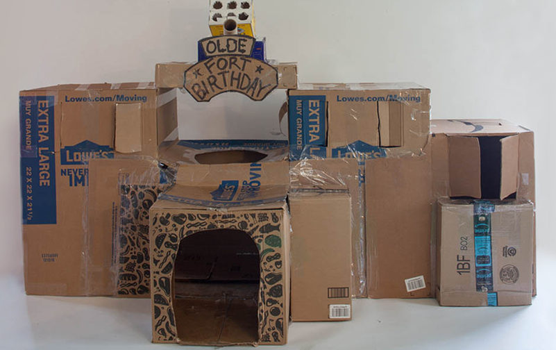 Introducing the latest innovation from MIRACLE BOX – The MIRACLE FORT! This easy-to-assemble citadel is the perfect way to entertain young children for hours. (Sharpie, tape and box cutter sold separately.)