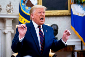 "When a reporter asked a question about Syria, the president launched into a 25-minute expletive-laden tirade about the Fake Media, the impeachment witch hunt, and how he was responsible for the Nationals winning the World Series: ""I alone could win it."""