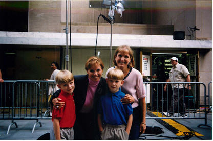 And you thought I was making this up. Here's Katie Couric of NBC's Today Show on 9-9-99, after Betsy's appearance with her twins. Apparently there was a scheduling mix-up, as I was accidentally left off the show.
