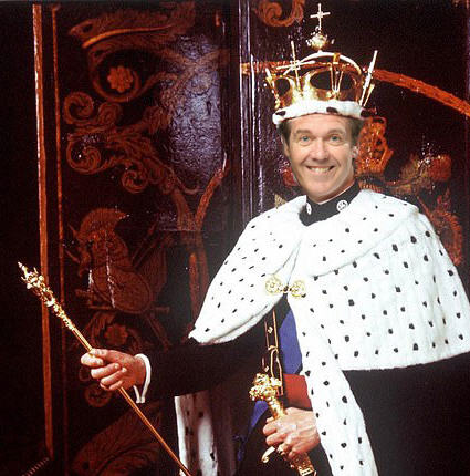 I don't want to get ahead of myself, but things are looking quite promising that I shall take Harry's place as a member of the Royal Family. Be honest: Does the crown make me look fat?