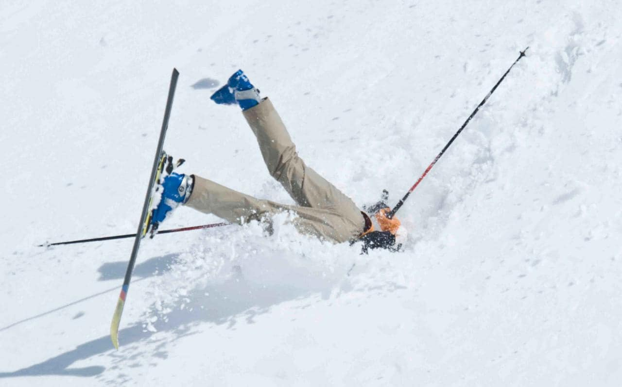 If you've never tried downhill skiing, what are you waiting for? There's no better way to experience the great outdoors of winter, draw in crisp alpine air and be carried off in a stretcher with multiple fractures.