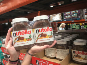 When shopping, only buy the absolutely necessities – like 12 cases of Nutella. If someone has nabbed them first, don your surgical gloves, shove that shopper to the ground, grab the jars, and run. Piece of cake (that's in aisle 3).