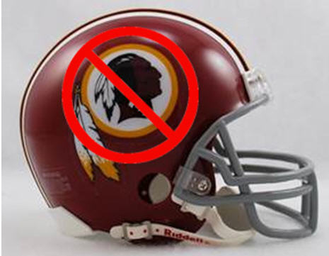 "This helmet has been at the center of a heated controversy for years. Many people feel the name ""Redskins"" is an offensive stereotype for millions of Native Americans. There have been many calls for a less offensive team name. One suggestion which I suspect might not get the nod: The ""Washington Negroes."""