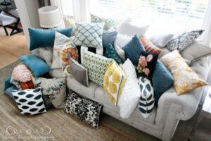 We could throw pillows out the window all day long and still have enough to supply our entire community. Maybe that's a bit of an exaggeration. A few couples may need to share.