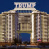A sneak preview of one possible design for the Trump Liebrary, Resort and Casino, expected to be the first presidential library ever to include only one book, the Bible. It will also feature the largest collection of porn videos of any presidential library.